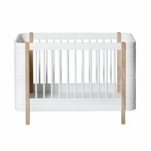 Wood Mini+ (Babybett und Kinderbett, 0-9 jahre) Startset weiß/Eiche