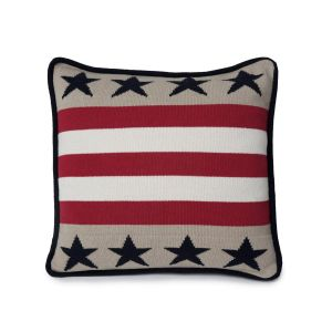 Lexington No1 Sham - stripes & stars, beige