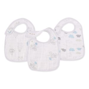 Snap bib, night sky, 3-pack