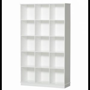 Wood Standregal 3×5 vertikal m. Sockel (ohne Kisten)