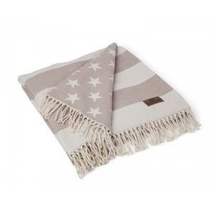 Lexington Flag Throw weiß/beige